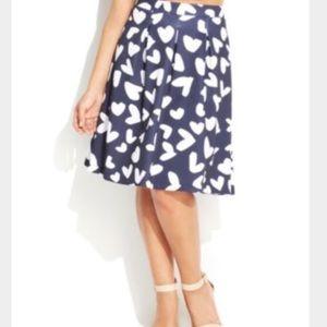 INC International Concepts NWT heart A-line Skirt
